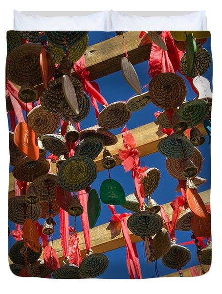 Buddhist Prayer Wishes Ema Hanging Duvet Cover
