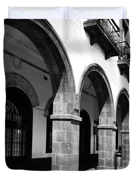 Buildings In Ponta Delgada Duvet Cover by Gaspar Avila