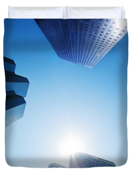 Business Skyscrapers Duvet Cover by Michal Bednarek