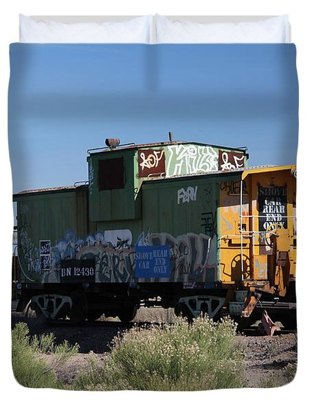 Caboose  Duvet Cover by Diane Greco-Lesser