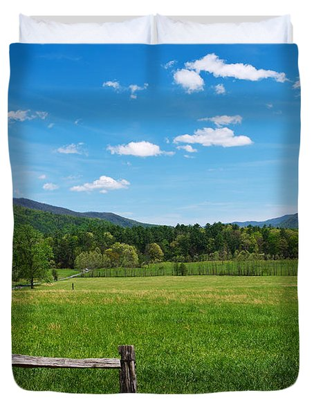 Cades Cove Duvet Cover by Melinda Fawver