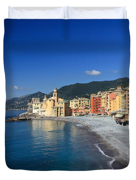 Duvet Cover featuring the photograph Camogli - Italy by Antonio Scarpi