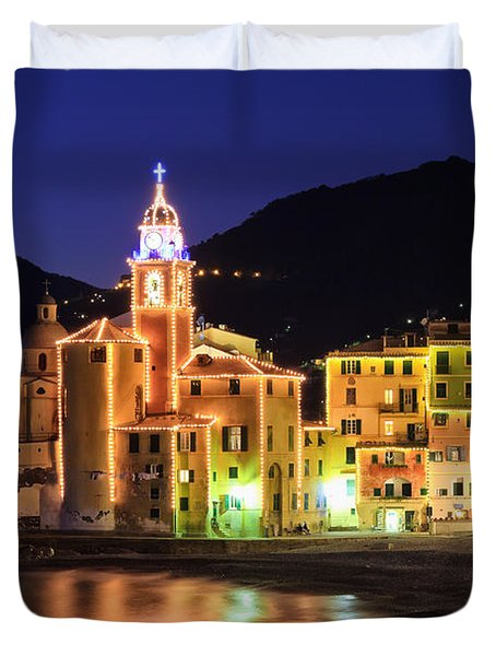 Camogli At Evening Duvet Cover