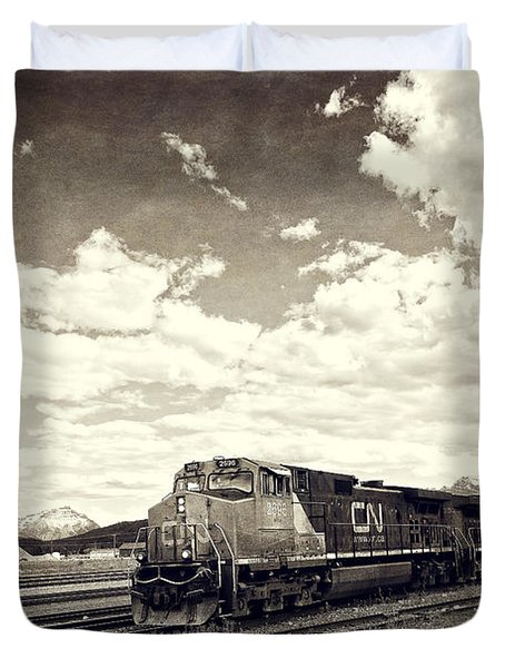 Canada Rail Duvet Cover by Ivy Ho