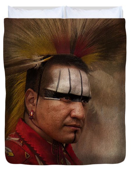 Canadian Aboriginal Man Duvet Cover