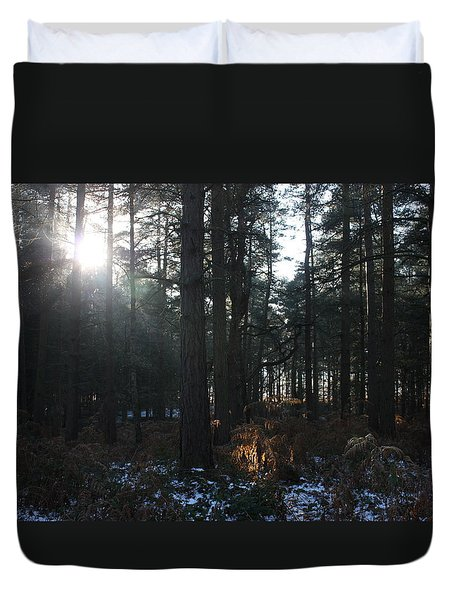 Duvet Cover featuring the photograph Cannock Chase by Jean Walker