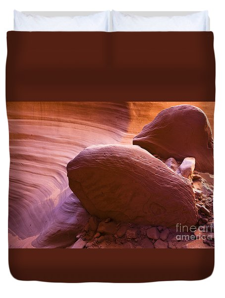 Canyon Rocks Duvet Cover by Bryan Keil