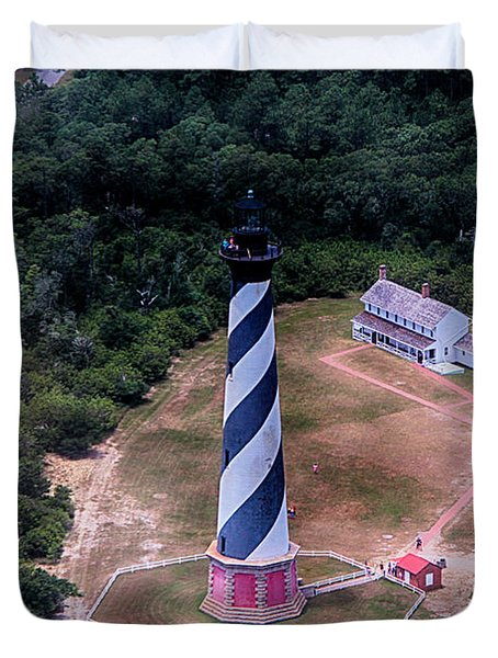 Cape Hatteras Lighthouse From Above Duvet Cover