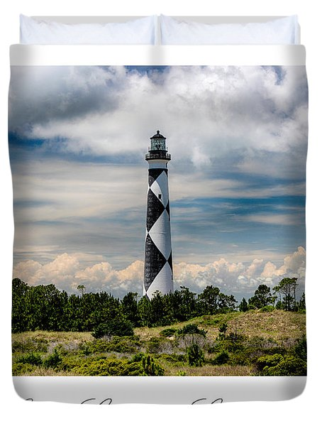 Cape Lookout Lighthouse Duvet Cover by Tony Cooper