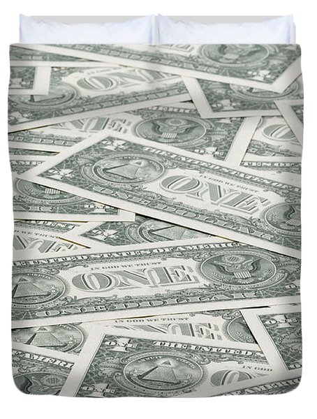 Duvet Cover featuring the photograph Carpet Of One Dollar Bills by Lee Avison
