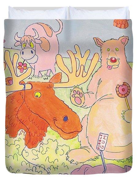 Cartoon Animals Duvet Cover