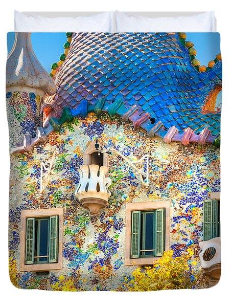 Casa Batllo - Barcelona Duvet Cover by Luciano Mortula