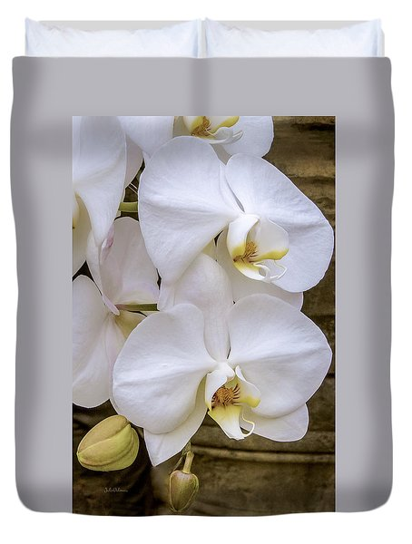 Cascade Of White Orchids Duvet Cover