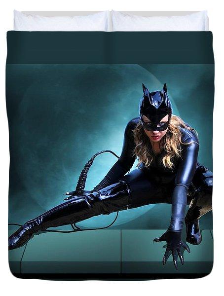 The Feline Fatale Duvet Cover