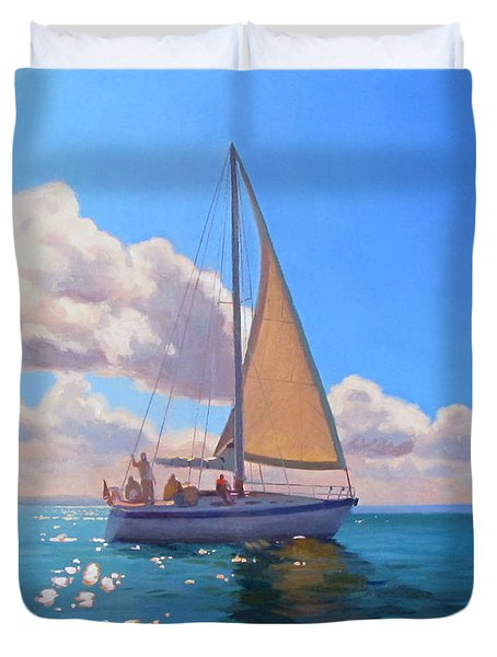 Catching The Wind Duvet Cover by Dianne Panarelli Miller