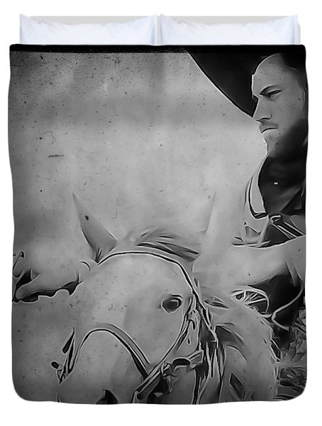 Cavalry Rides Again Duvet Cover by Kim Henderson