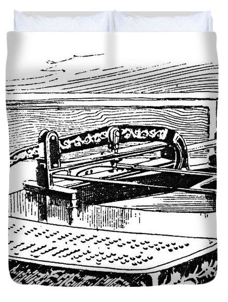 Census Machine, 1890 Duvet Cover