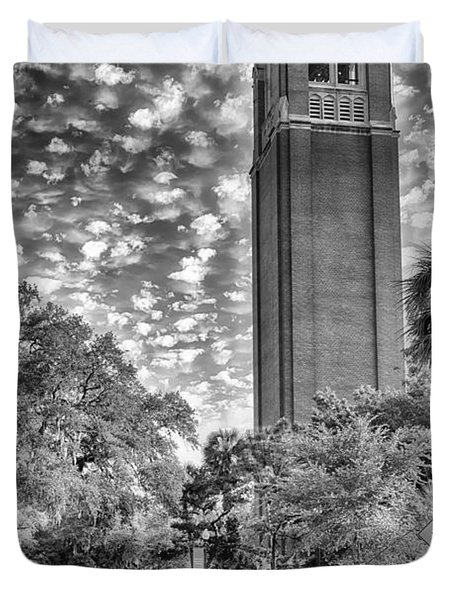 Duvet Cover featuring the photograph Century Tower  by Howard Salmon