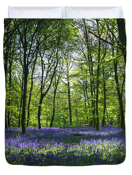 Chalet Wood Wanstead Park Bluebells Duvet Cover