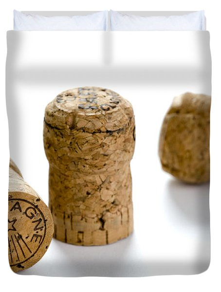 Duvet Cover featuring the photograph Champagne Corks by Lee Avison