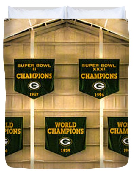 Championship Banners Duvet Cover