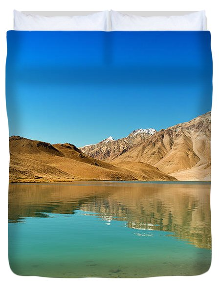 Chandratal Lake Duvet Cover