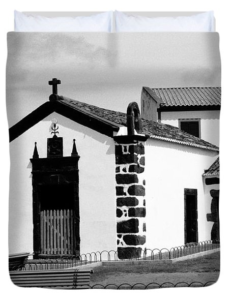 Chapel In Azores Islands Duvet Cover by Gaspar Avila