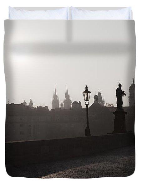 Charles Bridge Prague Duvet Cover