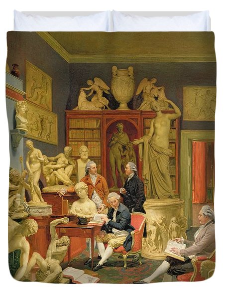 Charles Townley And His Friends Duvet Cover by Johann Zoffany
