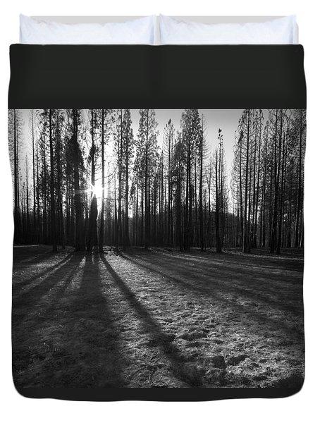 Charred Silence - Yosemite Rim Fire 2013 Duvet Cover
