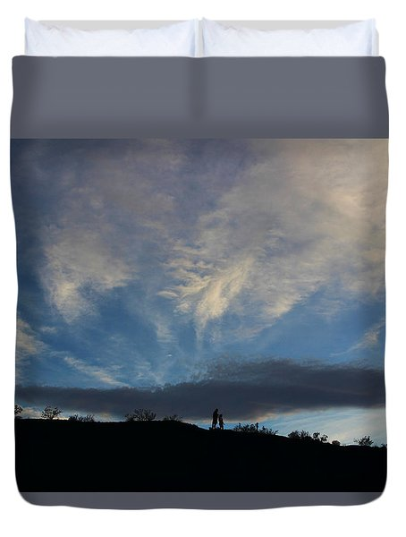 Duvet Cover featuring the photograph Chase The Moonlight by Tammy Espino