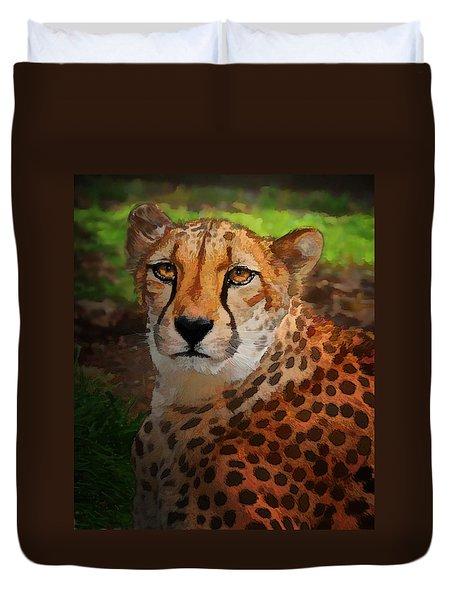Cheetah Mama Duvet Cover