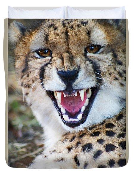 Cheetah With Attitude Duvet Cover