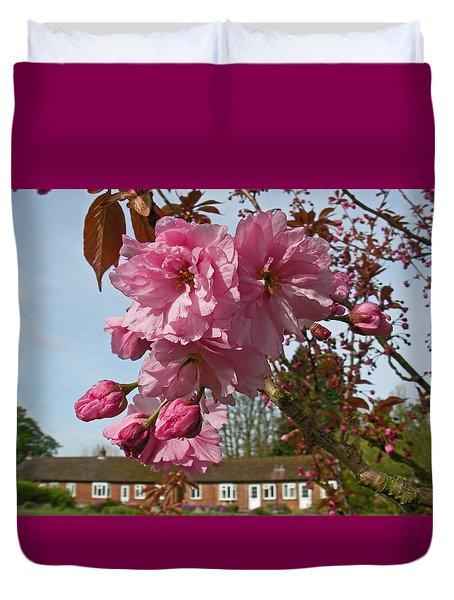 Cherry Blossom Spring Duvet Cover
