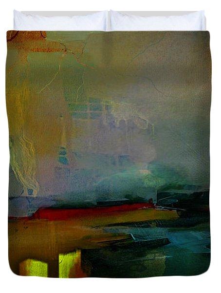 Chicago Skyline Watercolor Duvet Cover