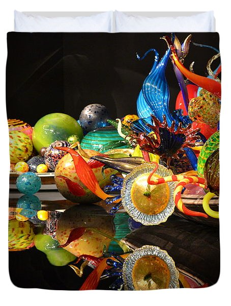 Chihuly-14 Duvet Cover by Dean Ferreira