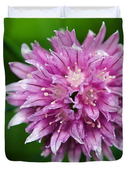 Chive Flower Duvet Cover