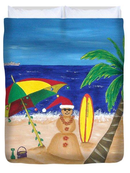 Christmas In Kona Duvet Cover by Pamela Allegretto