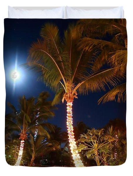 Christmas Palms Duvet Cover