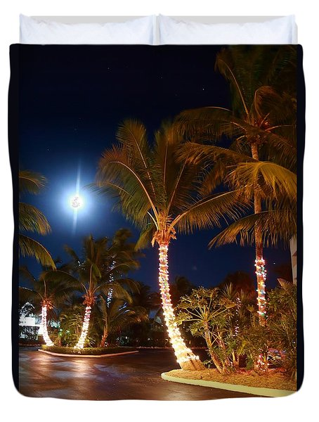 Christmas Palms Duvet Cover