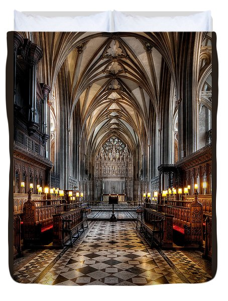Church Interior Duvet Cover by Adrian Evans