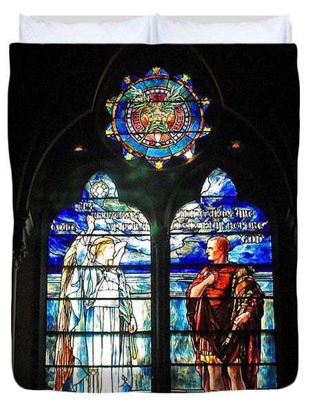 Church Of The Covenant Stained Glass 11 Duvet Cover