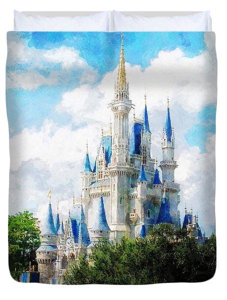 Cinderella Castle Duvet Cover by Sandy MacGowan