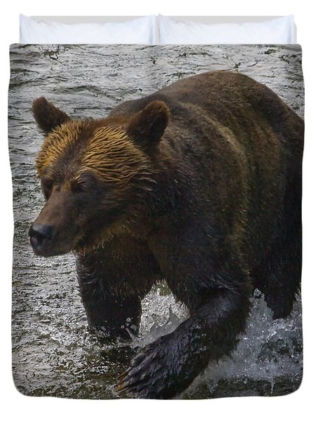 Duvet Cover featuring the photograph Cinnamon Grizzly by J L Woody Wooden