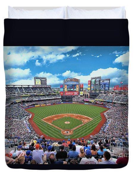 Citi Field 2 - Home Of The N Y Mets Duvet Cover