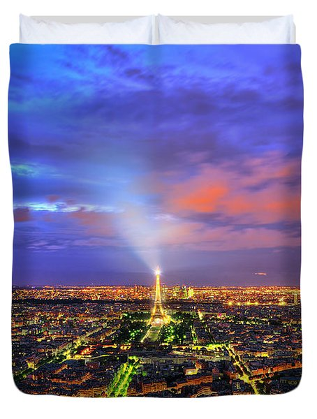 City Of Lights Duvet Cover by Midori Chan