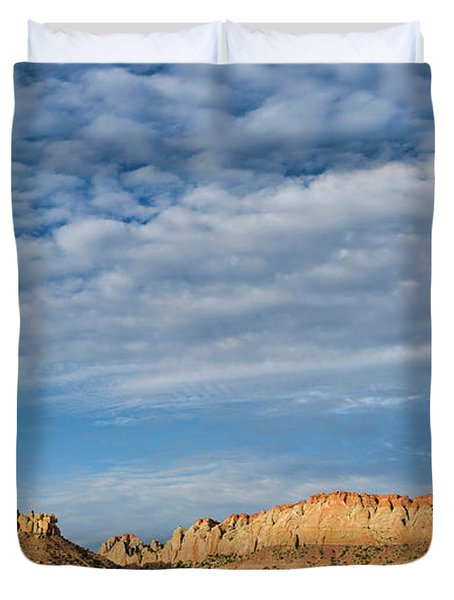 Clouds Over The Circle Cliffs Near Long Duvet Cover