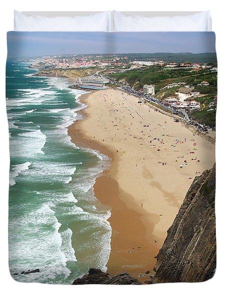 Coastal Cliffs Duvet Cover by Carlos Caetano