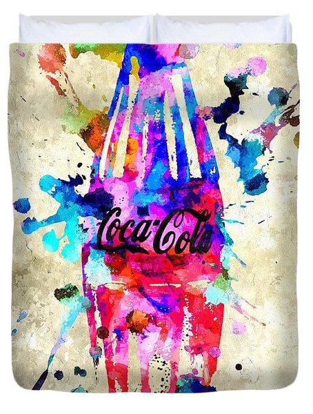 Coca-cola Duvet Cover by Daniel Janda