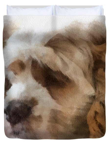 Cocker Spaniel Photo Art 02 Duvet Cover by Thomas Woolworth
